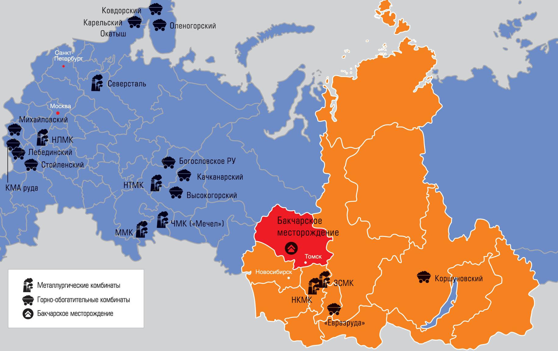 Крупнейшие месторождения железа в россии