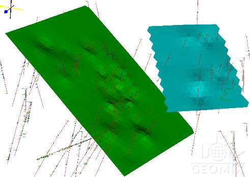 Методика и компьютерная технология трехмерного моделирования плоскостей ослабления породного массива на примере Ковдорского месторождения магнетит-апатитовых руд
