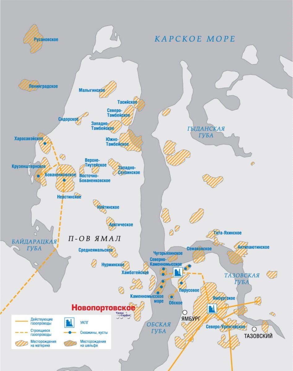 Новопортовское месторождение - уникальная кладезь высококачественной нефти