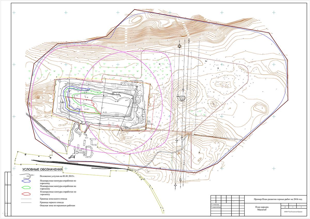 Оформление и согласование плана развития горных работ